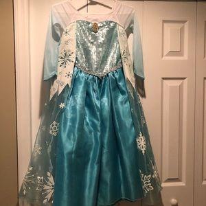 Authentic Disney Store Elsa Costume 7/8 Girls